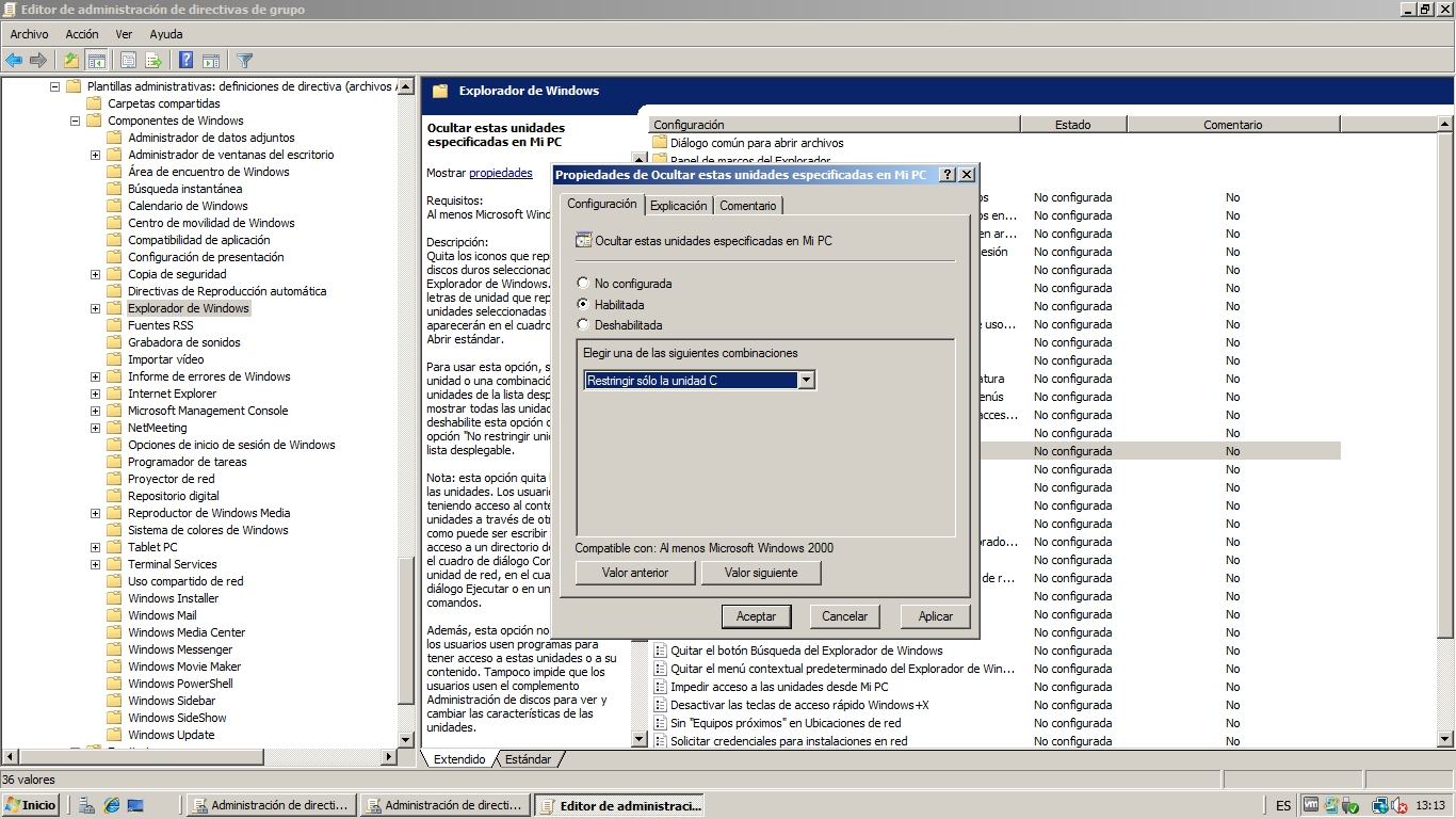 Administración de Usuarios, Grupos y Directivas en Windows Server ...
